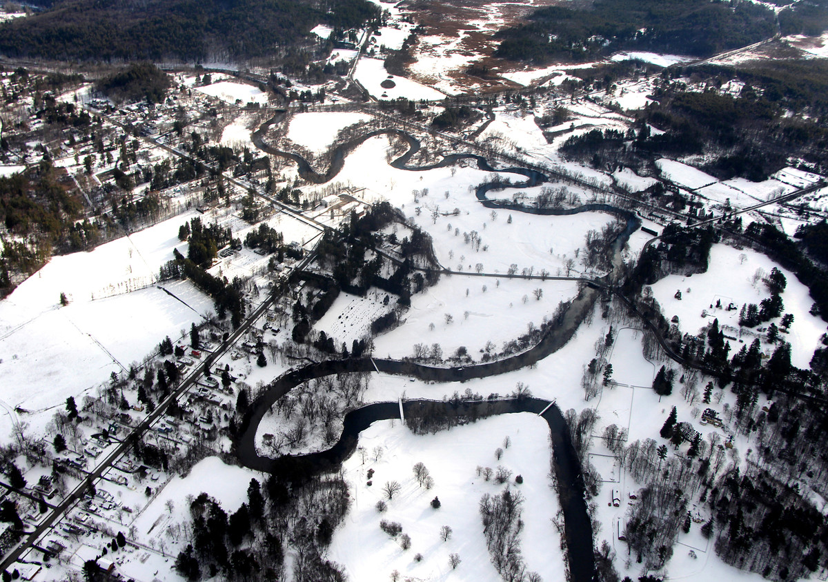 Glenna Blackwell of Great Barrington, MA: The Housatonic River from the Air